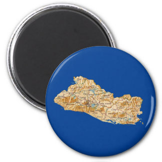 Aimant de carte du Salvador