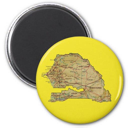 Aimant de carte du Sénégal