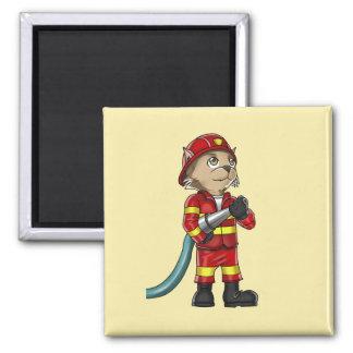 Aimant de chat de sapeur-pompier
