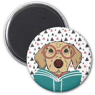 Aimant de chien de lecture