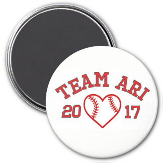 Aimant de coeur de base-ball d'Ari d'équipe