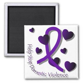 Aimant de conscience de violence familiale