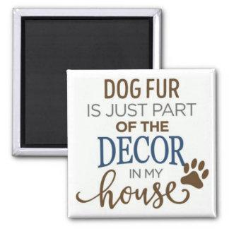 aimant de décor d'amant de fourrure de chien