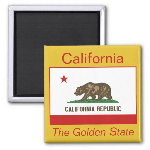 Aimant de drapeau de la Californie