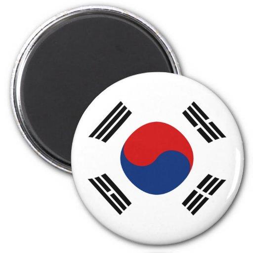 Aimant de drapeau de la Corée du Sud Fisheye