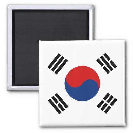 Aimant de drapeau de la Corée du Sud