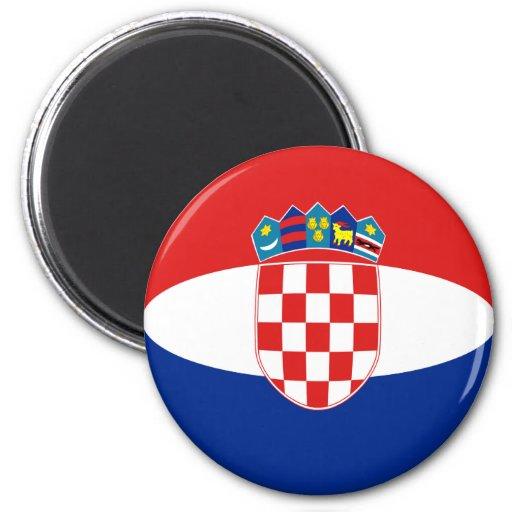 Aimant de drapeau de la Croatie Fisheye