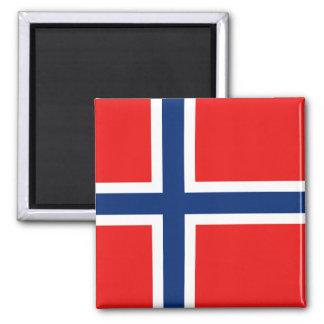 Aimant de drapeau de la Norvège