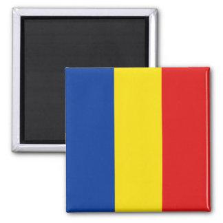 Aimant de drapeau de la Roumanie