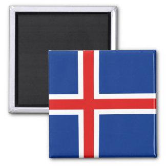Aimant de drapeau de l'Islande