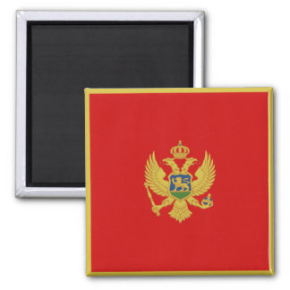 Aimant de drapeau de Monténégro