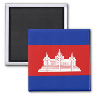 Aimant de drapeau du Cambodge