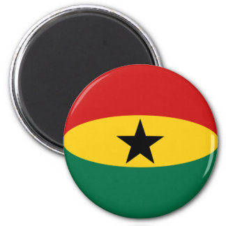 Aimant de drapeau du Ghana Fisheye