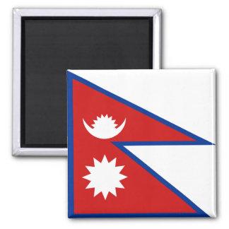 Aimant de drapeau du Népal
