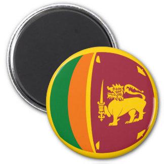 Aimant de drapeau du Sri Lanka Fisheye
