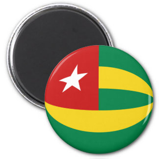 Aimant de drapeau du Togo Fisheye