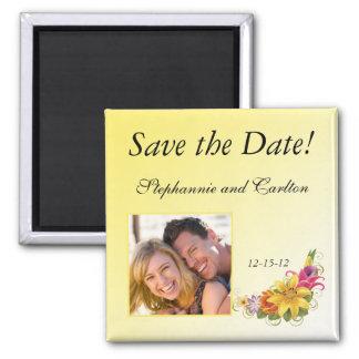 Aimant de faire-part de mariage de bouquet de fleu