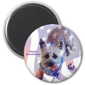 Aimant de fierté de drapeau de Terrier de cairn de