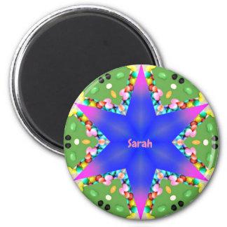 Aimant ~ de fractale d'étoile personnalisé par ~ de SARAH