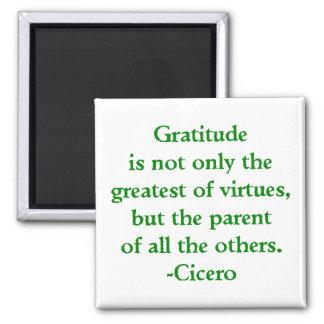 Aimant de gratitude magnet carré