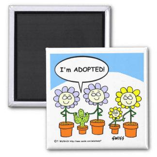 Aimant de jardinage de réfrigérateur d'adoption