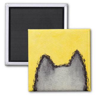 Aimant de jaune de minou d'art de bruit