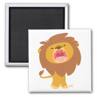 Aimant de lion d'ing de bande dessinée