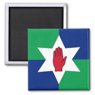 Aimant de l'Irlande du Nord - étoile sur vert et