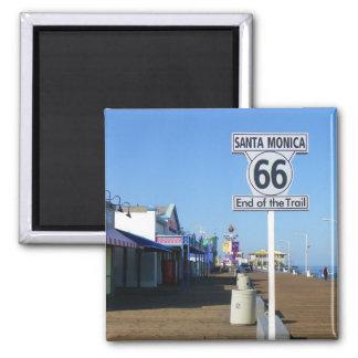 Aimant de l'itinéraire 66 de Santa Monica !
