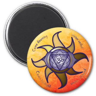 """Aimant de Lotus d'analyse de yoga de """"troisième"""