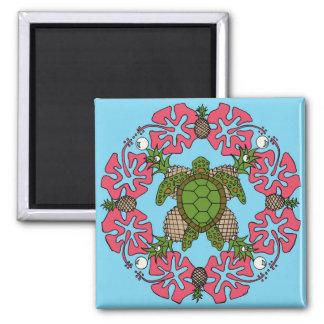 Aimant de Mandala de tortue de mer