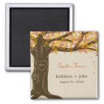 Aimant de mariage de automne de chêne