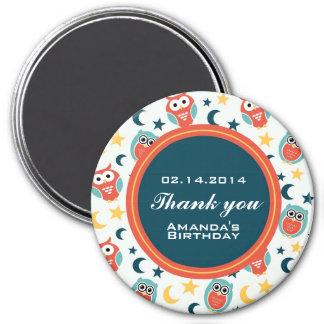 Aimant de Merci de fête d'anniversaire de couche-t