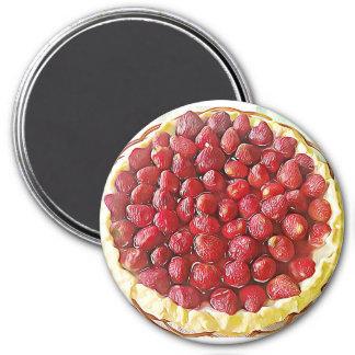 Aimant de nourriture de tarte de fraise