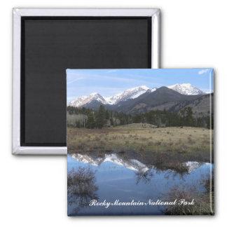 Aimant de parc national de montagne rocheuse
