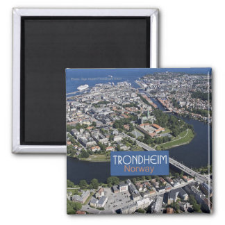 Aimant de photo de souvenir de voyage de Trondheim