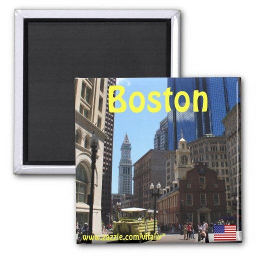 Aimant de photographie de Boston le Massachusetts