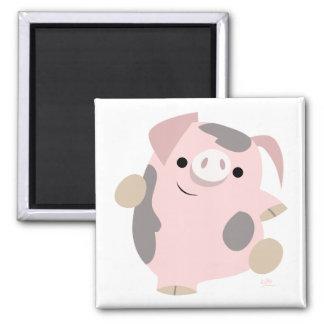 Aimant de porc de danse de bande dessinée