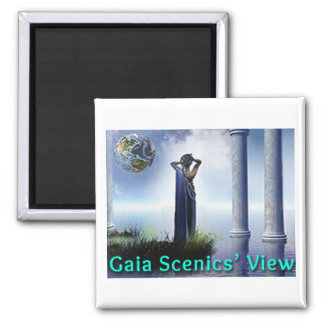 Aimant de réfrigérateur de carré de vue de Gaïa