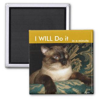 Aimant de réfrigérateur de chat siamois de Pouty