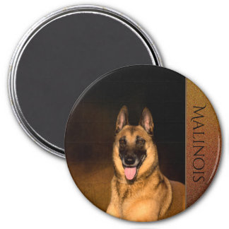 Aimant de réfrigérateur de chien de Malinois