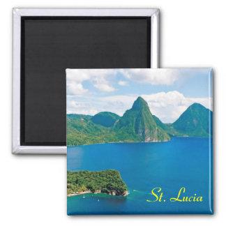 Aimant de réfrigérateur du St Lucia