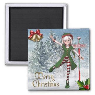 Aimant de Sadie Elf de Joyeux Noël