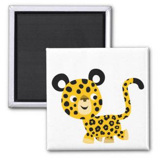 Aimant de sourire de léopard de bande dessinée mig