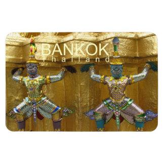 Aimant de souvenir de voyage de Bangkok Thaïlande Magnet Rectangulaire Avec Photo
