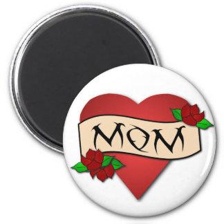 Aimant de tatouage de coeur de maman