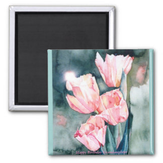 Aimant de tulipes de CMCarlsonPink