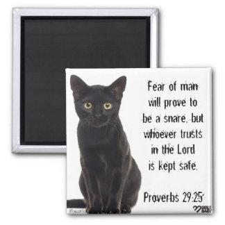 Aimant de vers de bible - 29:25 de proverbes