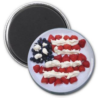 Aimant Dessert de drapeau américain