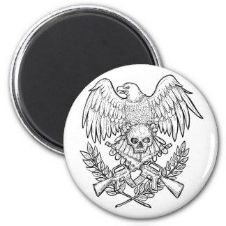 Aimant Dessin de fusil d'assaut de crâne d'Eagle
